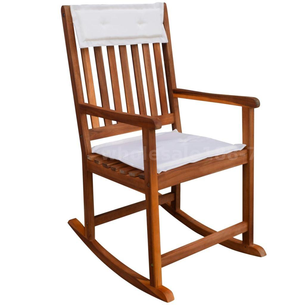 Sedie A Dondolo Per Terrazzo dettagli su vidaxl sedia a dondolo da giardino in legno di acacia q1y5
